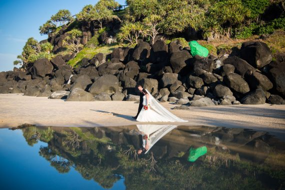 Beach wedding gold coast